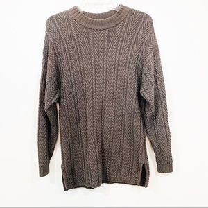 Pringle Crew Neck Cable Knit Sweater